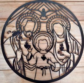 Mandala Sagrada Familia Preta Mdf