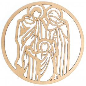Mandala Sagrada Familia Quadro Mdf 50cm