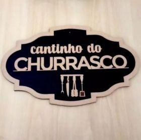 Placa Cantinho Do Churrasco Madeira mdf
