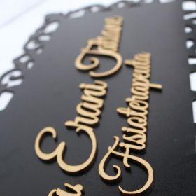 Placa Quadro Para Porta Consultório Escritórios Mdf
