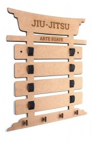 Porta 4 Faixas Com Nome Jiu-jitsu Taekwondo Karate Medalhas