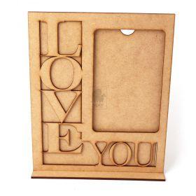 Porta Retrato Love You 10x15cm Vertical Cru - Yper Criativo