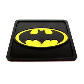 Quadro Batman Preto Laqueado Alto Relevo 3d Super Heróis - Yper Criativo