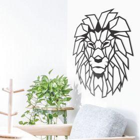 Quadro Decorativo Leão Animais Geométricos Mdf