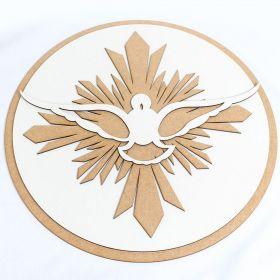 Mandala Quadro Espirito Santo Batizado Batismo Pompa Paz Mdf