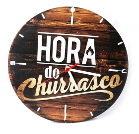Relógio Hora Do Churrasco Mdf