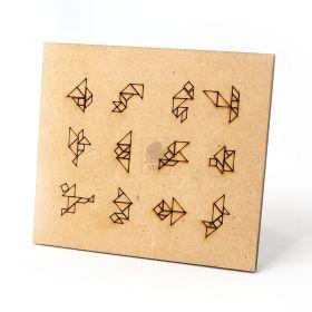 10 Tangram Personalizado Quebra Cabeça Infantil