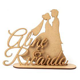 Topo De Bolo Para Casamento Nome Personalizado Noivos Casal