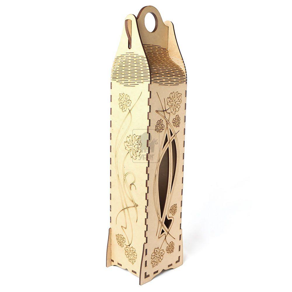 Caixa Embalagem Vinho Personalizada Personalizada com corte e gravação a laser em MDF - Yper Criativo