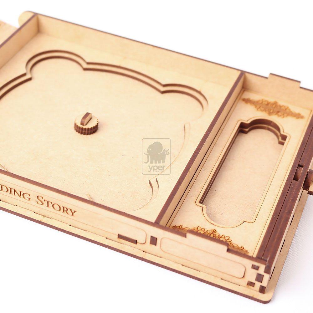 Caixa MDF para CD e PENDRIVE - Corte e Gravação a Laser - Yper Criativo
