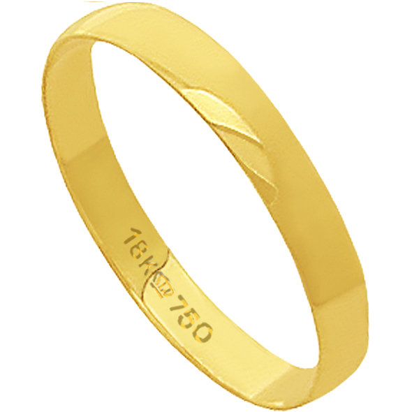 Aliança de Casamento Ouro 18k Lisa D300E