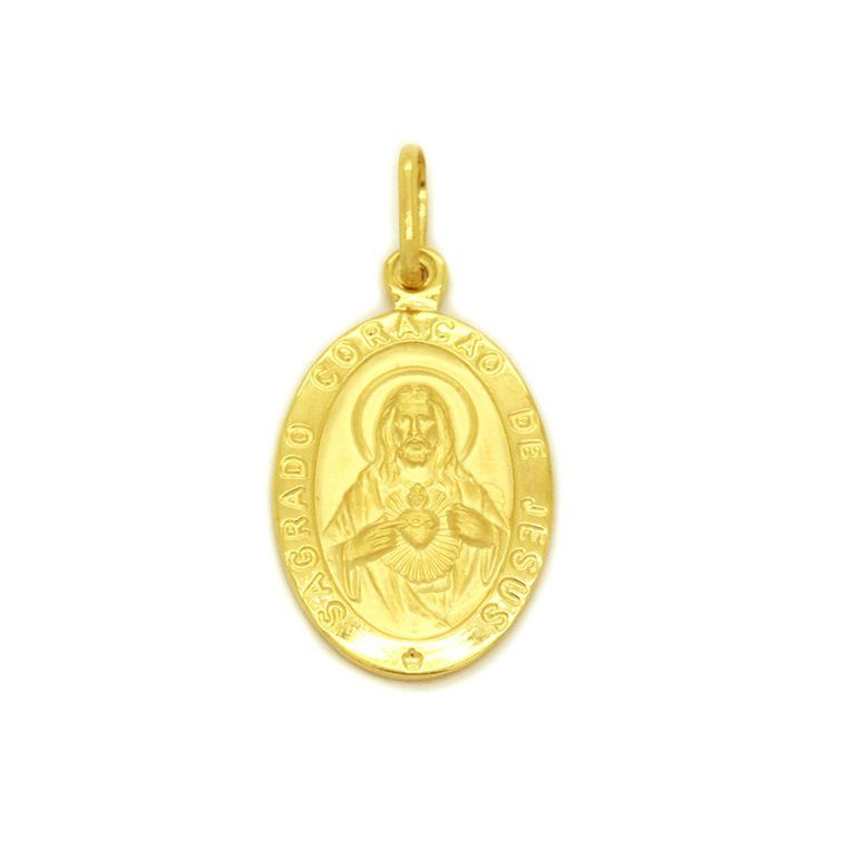 Pingente Ouro 18k Sagrado Coração de Jesus