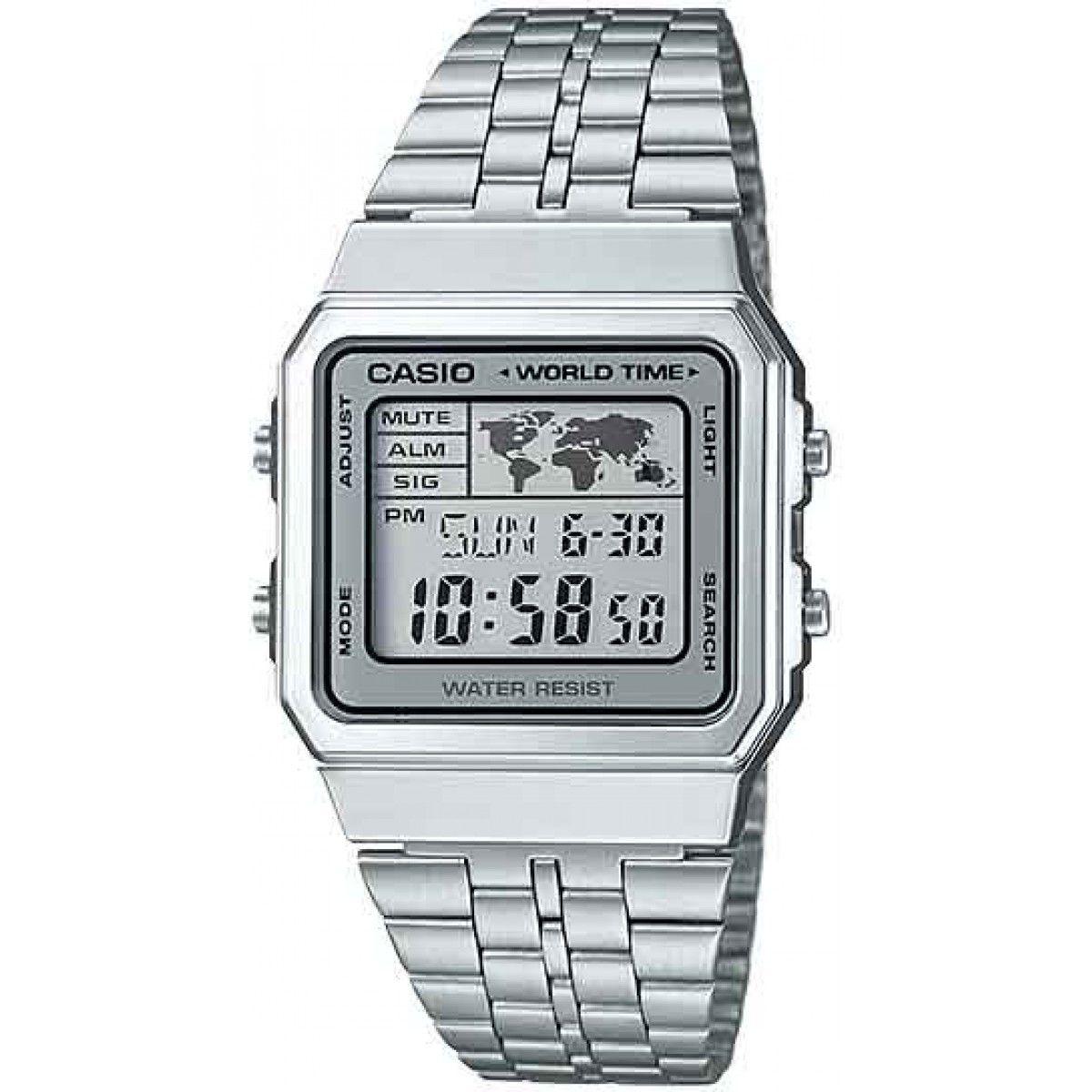 Relógio Casio Vintage World Time A500WA-7DF