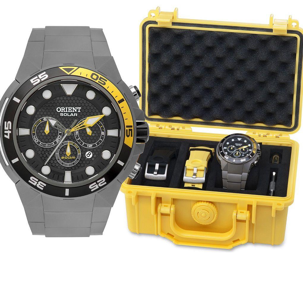 Relógio Masculino Orient MBTTC014 PIGX Solar Titanium