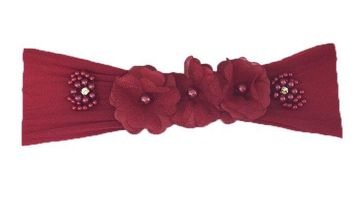 Faixa Meia Vermelha Flores