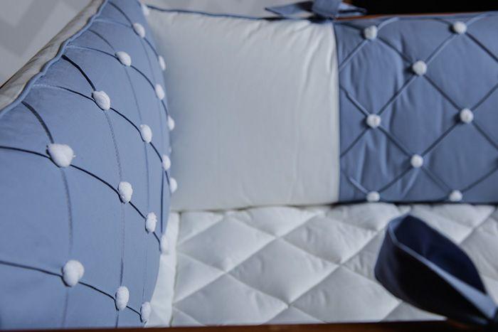 Kit Berço Sonho Azul Diamante