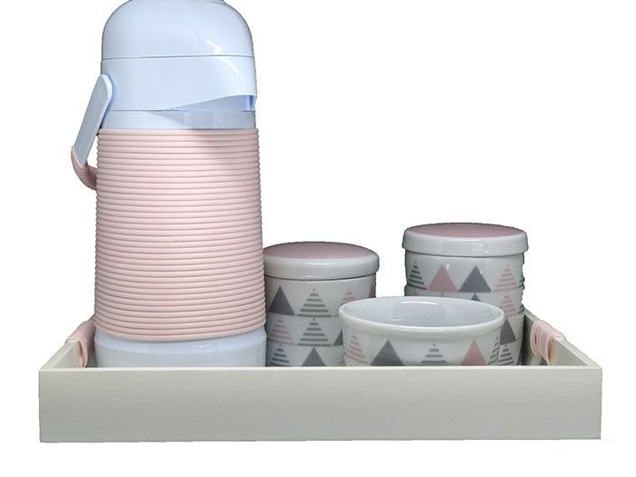 Kit Higiene Completo Geometrico Rosa