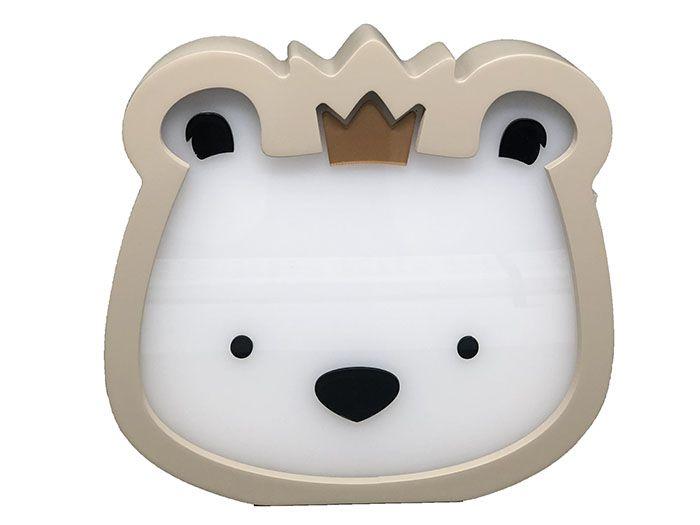 Luminária de Mesa Urso Rei Bege
