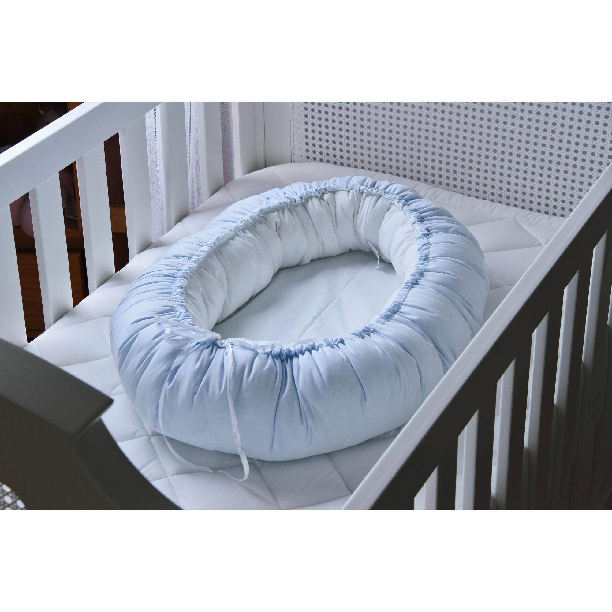 Ninho Redutor de Berço Azul Bebê