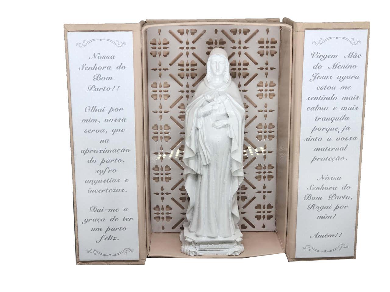 Oratório Nossa Senhora do Bom Parto Matelasse Rose
