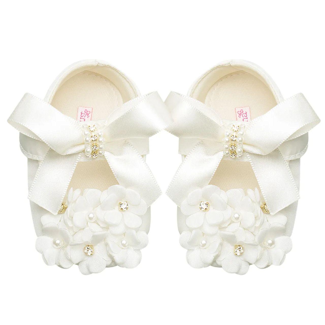 Sapatilha Luxo Flores Off White