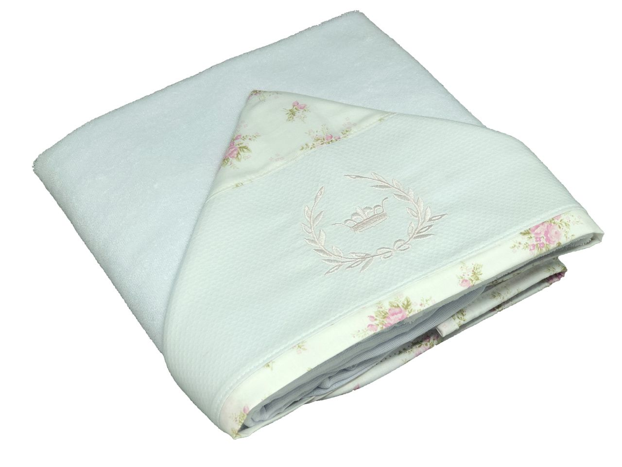 Toalha de Banho Capuz Floral Princess