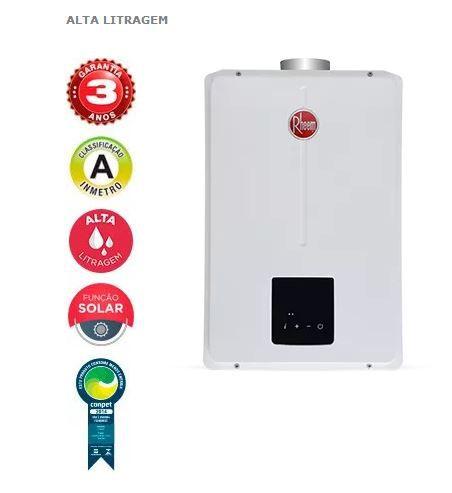 Rheem Aquecedor Digital Aquecedor RDB 45 litros Alta Litragem
