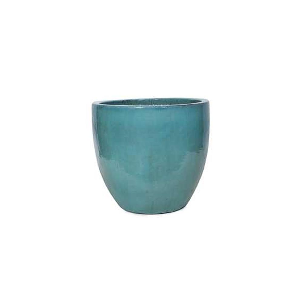 Vaso em Cerâmica Redondo Egg 70x61cm