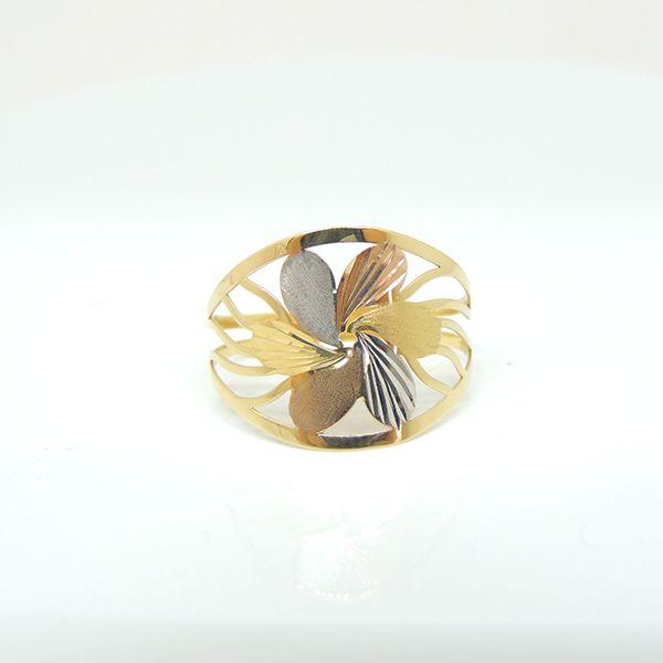 Anel Flor - Tricolor