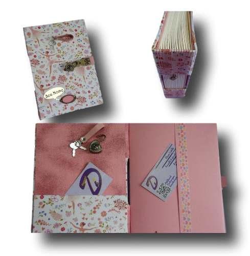 Caderno diário com cadeado A5 200 folhas