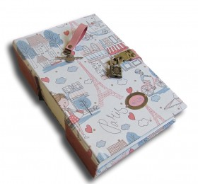 Caderno diário com cadeado A5 400 folhas