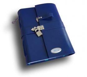 Caderno diário com cadeado Couro A5 300 folhas