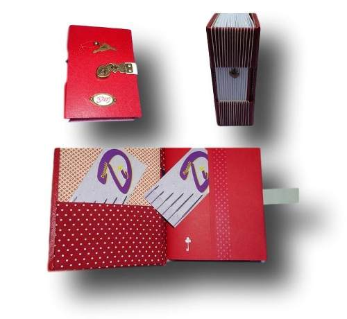 Caderno diário com cadeado A6 200 Folhas