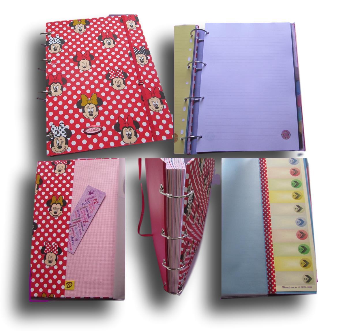 Caderno Argolado Fichário A4 10 Div. 200 folhas