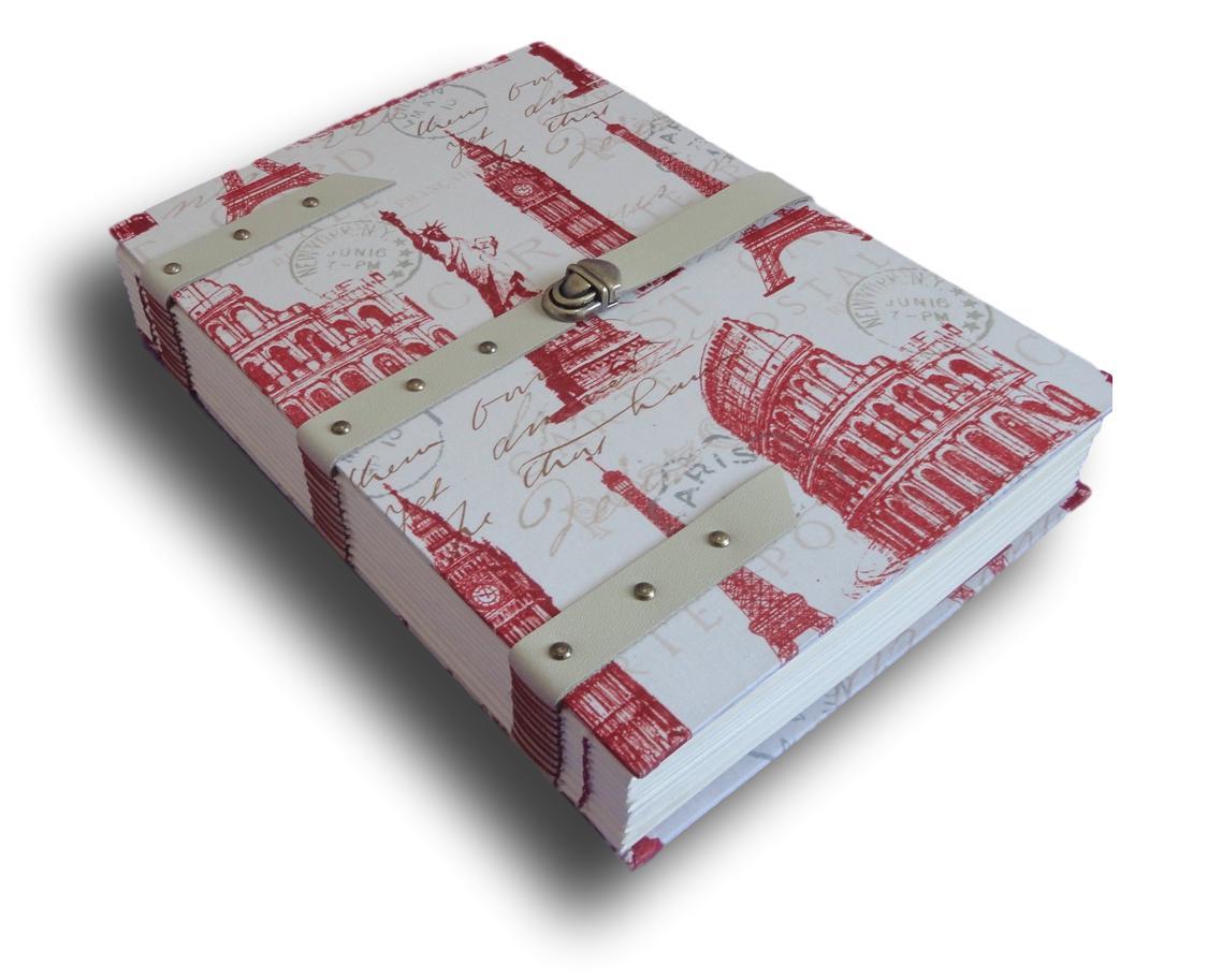 Caderno com Tira Couro A4 300 folhas