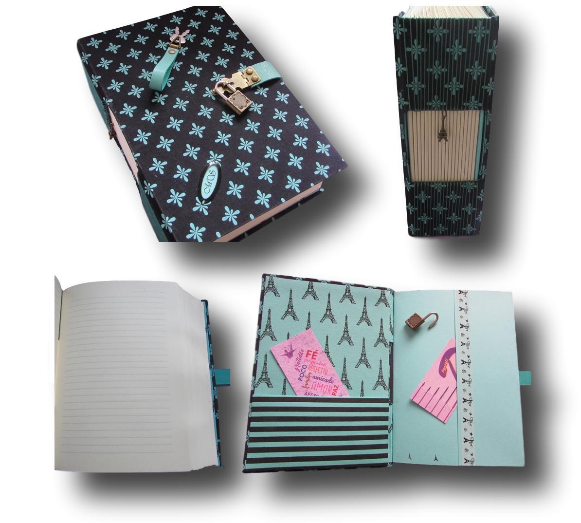 Caderno Diário Com Cadeado A5 500 Folhas