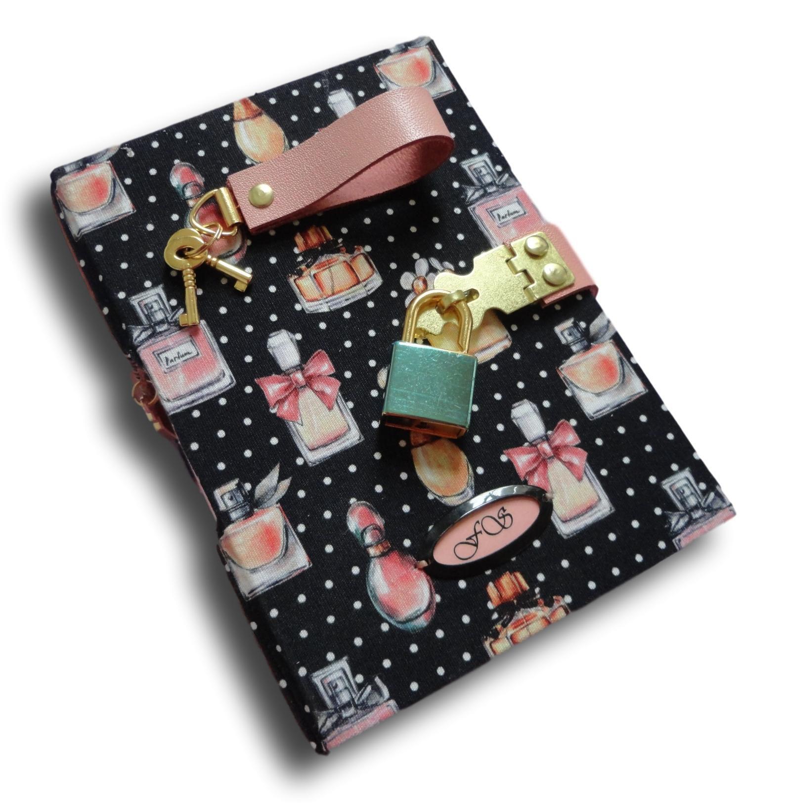 Caderno Diário com cadeado A6 300 folhas