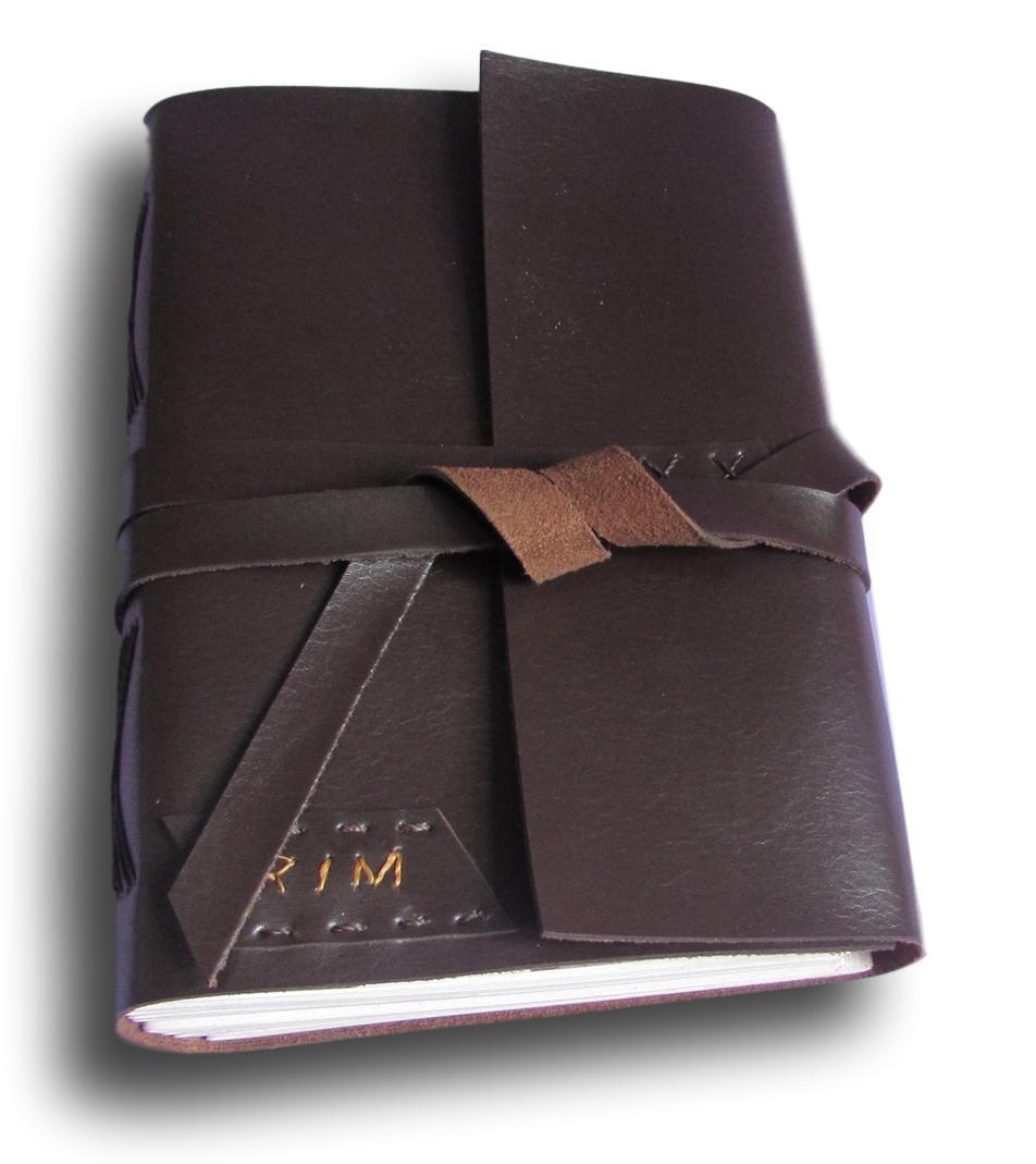 Caderno diário vntage Couro A5 300 Folhas