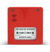 Acionador Manual de Alarme Convencional c/ Sirene - GLOBAL INCÊNDIO