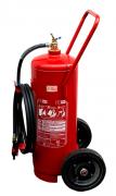 Carreta extintor água pressurizada 75L + Placa Sinalização