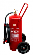 Carreta extintor espuma mecânica 50L + Placa de sinalização