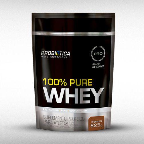 100% PURE WHEY (REFIL 825G) - PROBIÓTICA  - BRASILVITA