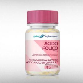ÁCIDO FÓLICO 400 MCG (45CAPS) - GLOBAL SUPLEMENTOS