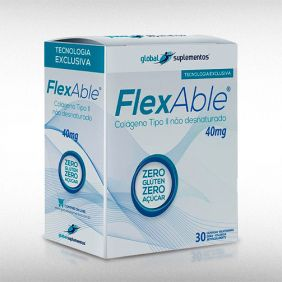 FLEXABLE COLAGENO TIPO II 40 MG - GLOBAL SUPLEMENTOS