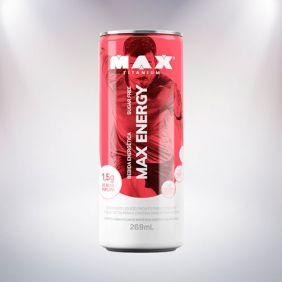 MAX ENERGY DRINK FRAMBOESA (269ML) - MAX TITANIUM