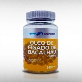 ÓLEO DE FÍGADO DE BACALHAU SEM SABOR (90CAPS) - GLOBAL SUPLEMENTOS