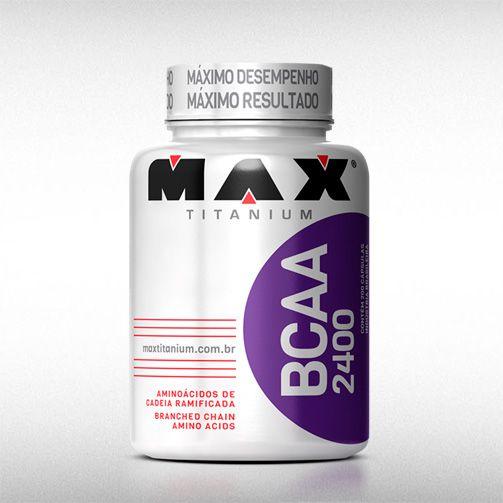 BCAA 2400 (60 CAPS) - MAX TITANIUM  - BRASILVITA