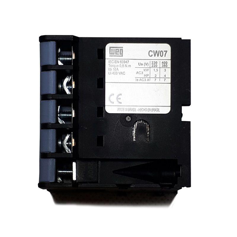 Contator Weg 3P CW07 220VCA 16A AC1