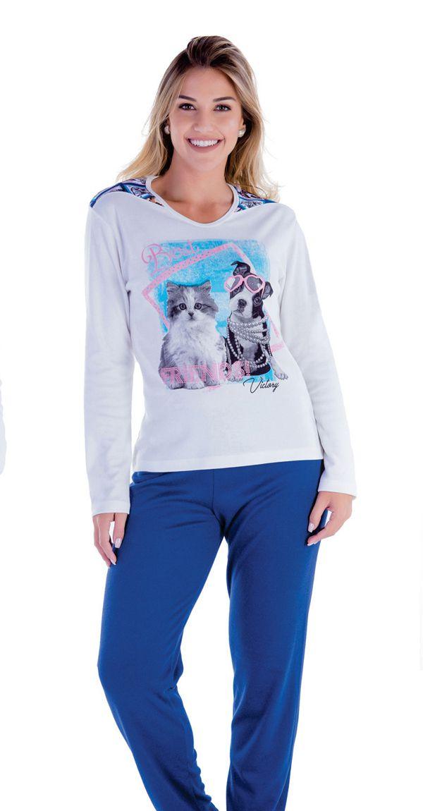 5a2caf0e0 Pijama feminino inverno adulto Victory ref. 18100 - Sedução Lingerie