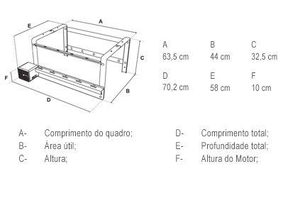 Giragrill Kit 4305R Inox